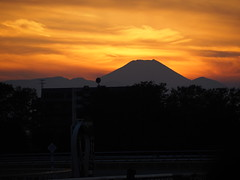 Sunset with Mt. Fuji (fujisan), Japan Cup Day