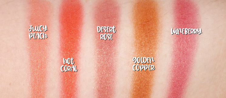 mary kay chromafusion blush swatches (2)