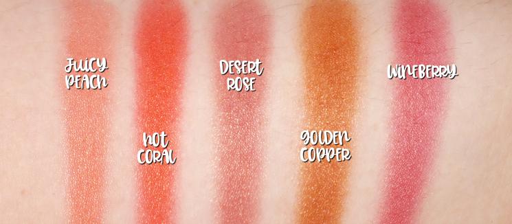 mary kay chromafusion blush swatches (2)