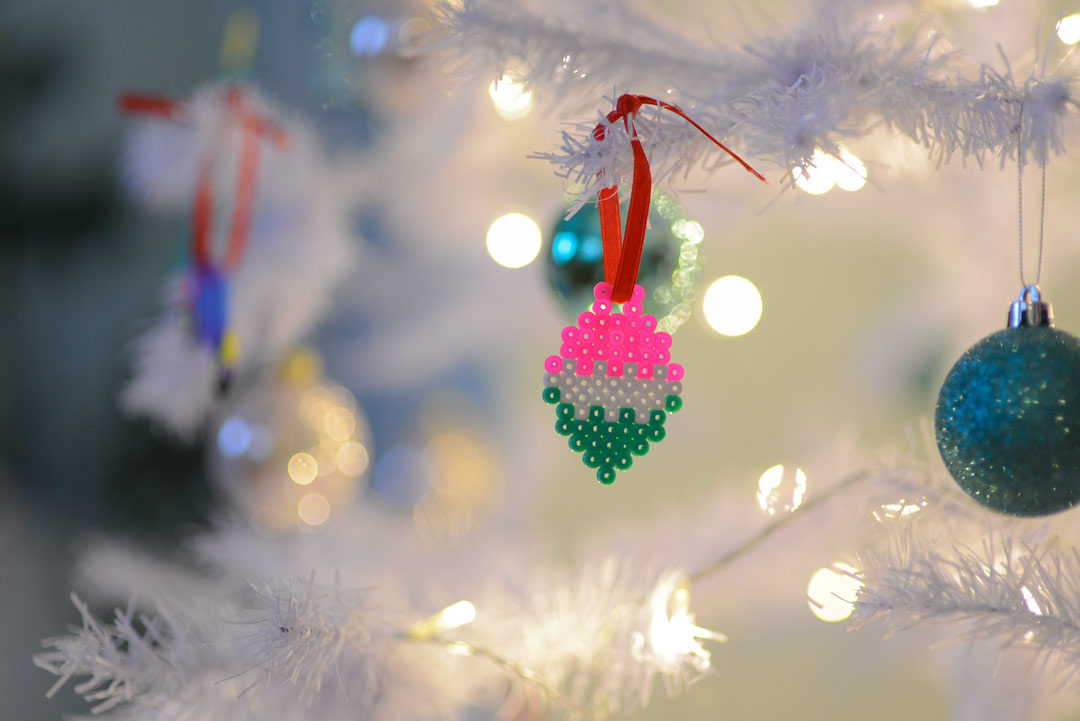 DIY Hama bead Christmas ornaments