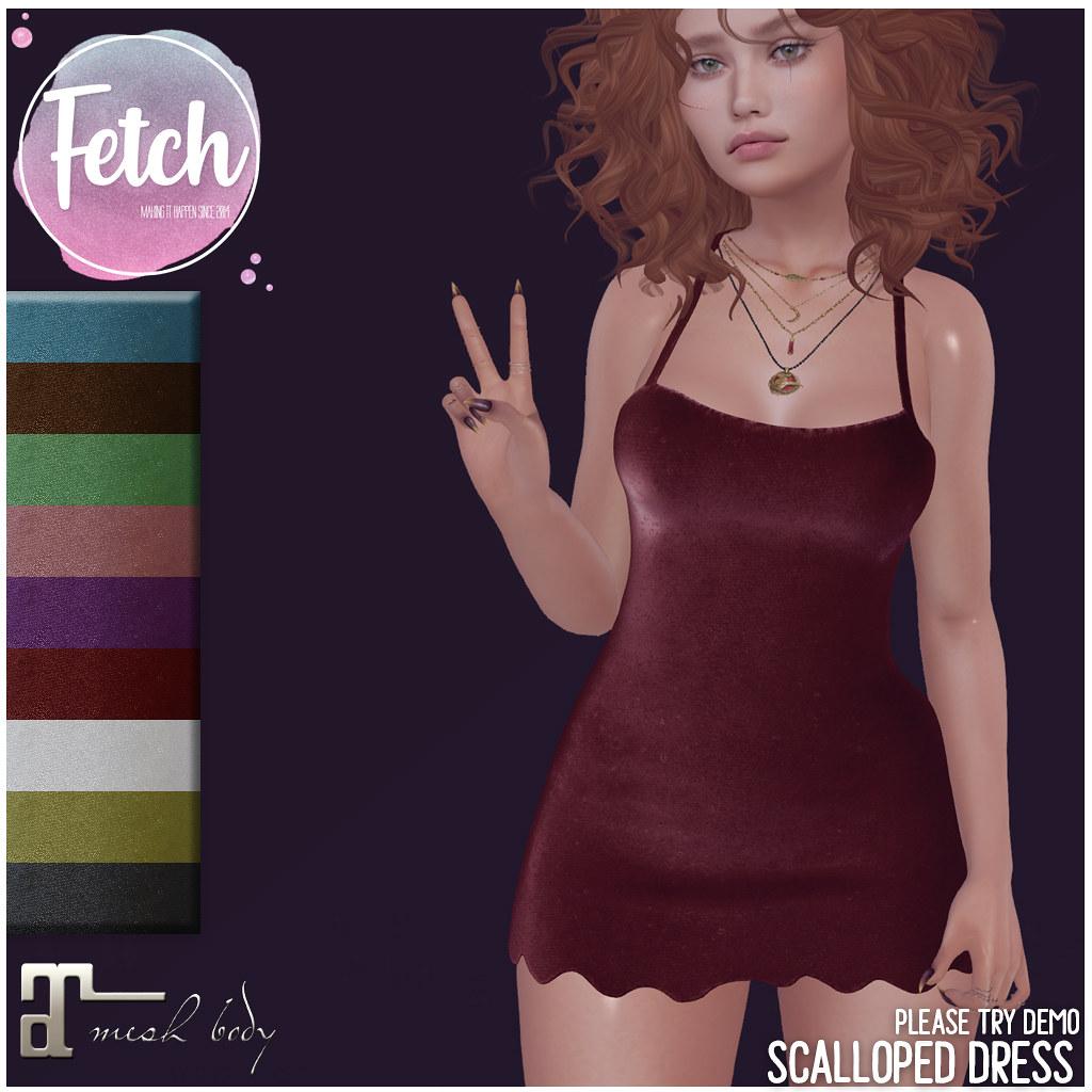 [Fetch] Scalloped Dress @ Soiree!