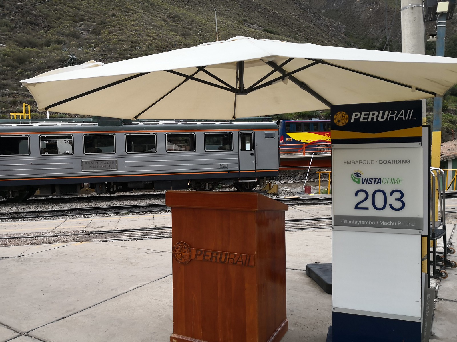 Peru Rail Boarding Area