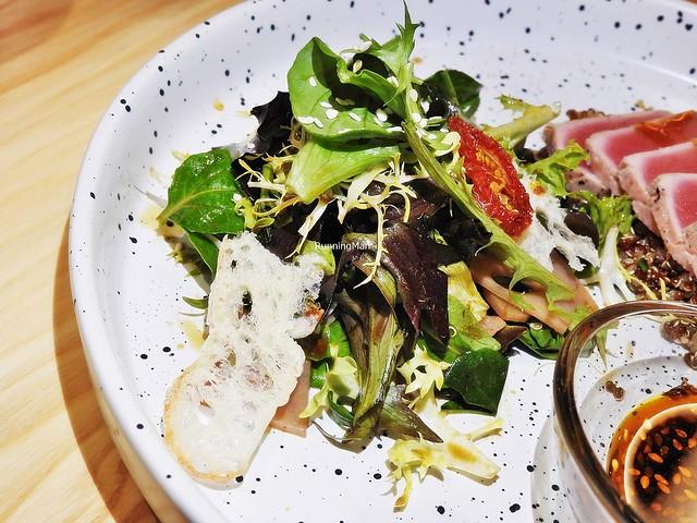 Mixed Mesclun Salad With Lotus Root, Melba Toast