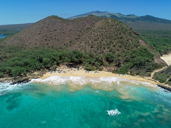 Hawaii Maui Makena Little Beach Aerial
