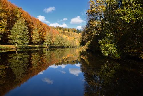 Jeu de reflets sur l'étang du Donnenbach