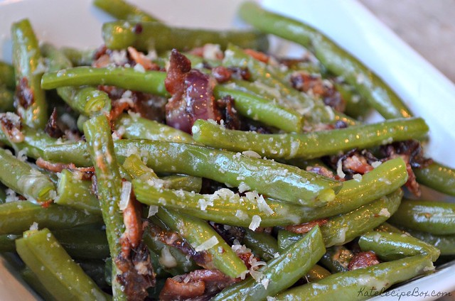 Bacon Parmesan Green Beans 2