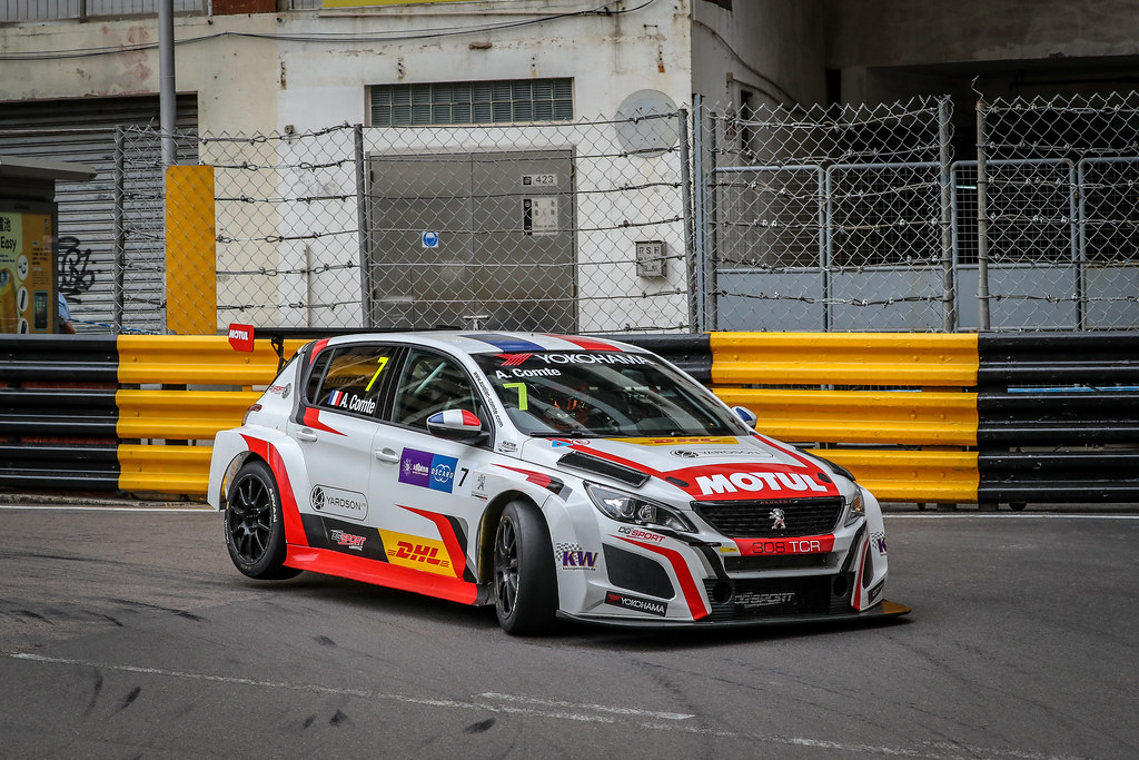 07 COMTE Aurelien, (fra), Peugeot 308 TCR team DG Sport Competition, action during the 2018 FIA WTCR World Touring Car cup of Macau, Circuito da Guia, from november  15 to 18 - Photo Alexandre Guillaumot / DPPI