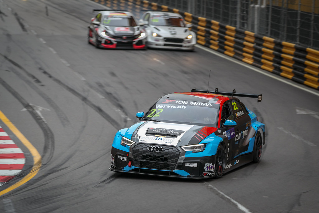 22 VERVISCH Frederic, (bel), Audi RS3 LMS TCR team Comtoyou Racing, action during the 2018 FIA WTCR World Touring Car cup of Macau, Circuito da Guia, from november  15 to 18 - Photo Alexandre Guillaumot / DPPI