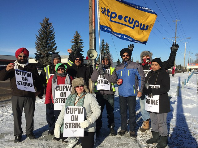 CUPW Edmonton on the Picket Line