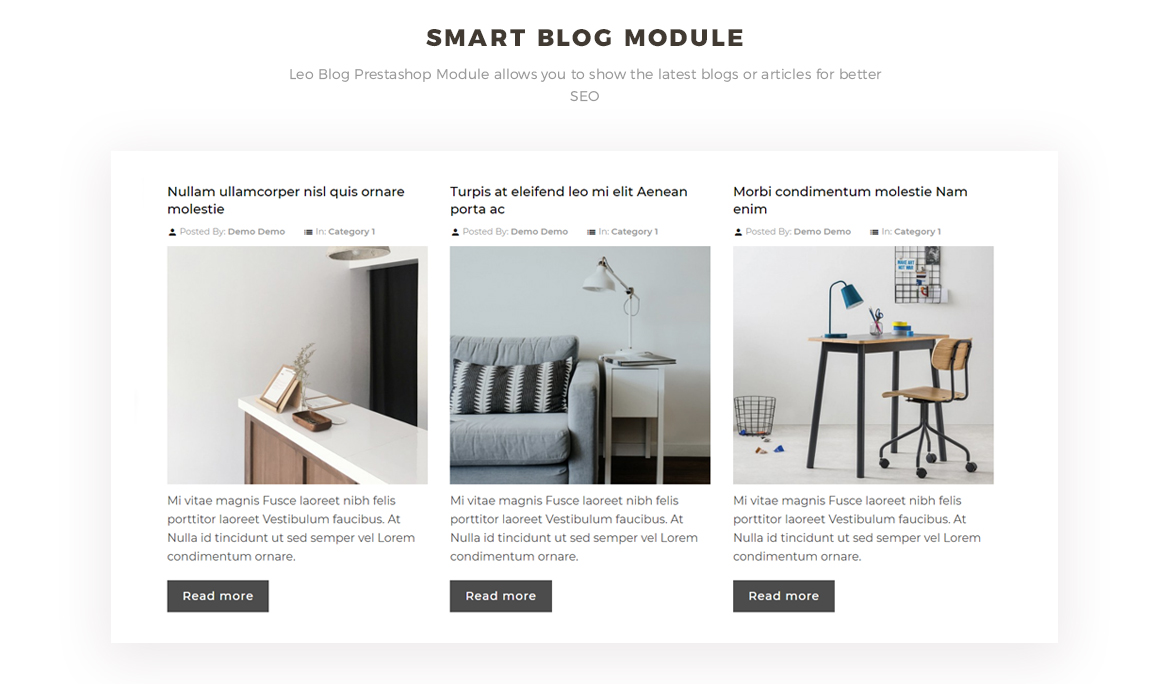 smart blog module - fashion prestashop theme