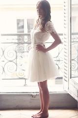 Peinados desenfadados para vestidos de novia Cortos (11)