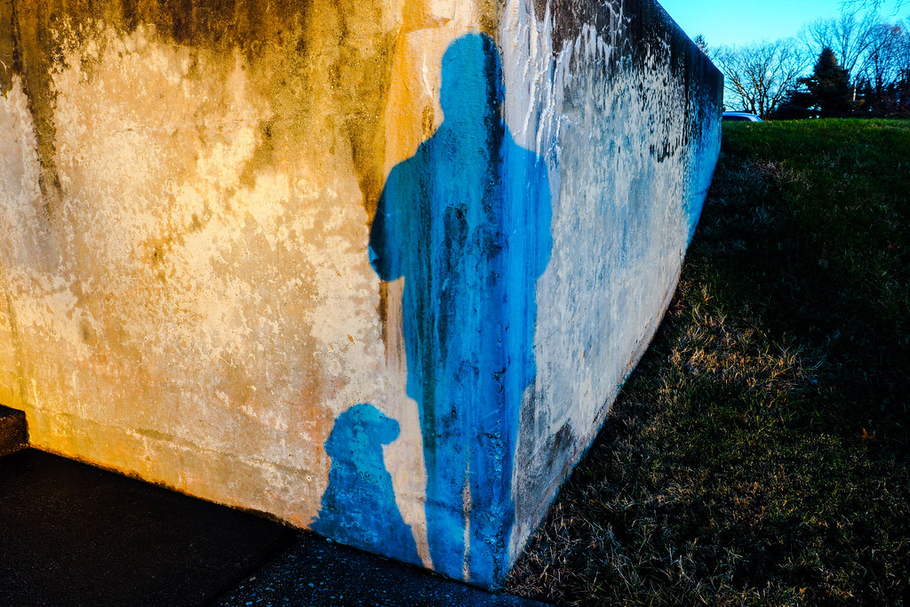 Sunset at the retaining wall, Baltimore, MD, USA.
