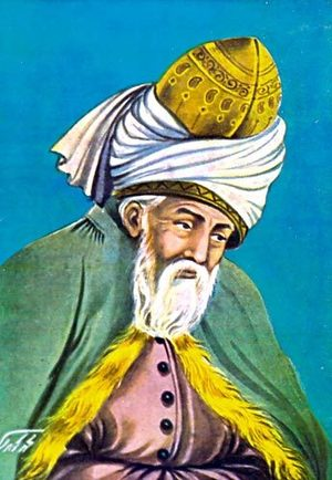 Depiction of Rumi, the 13th Century Sufi poet. From seattletimes.com