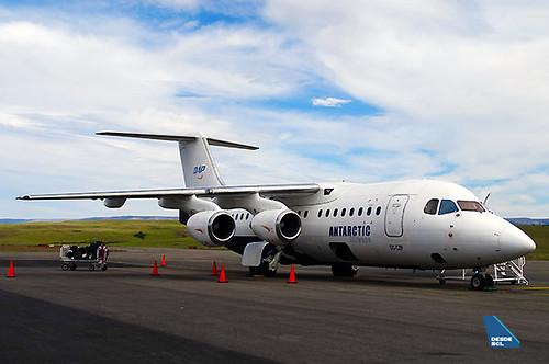 Aerovías DAP BAe146 CC-CZP en BBA (RD)