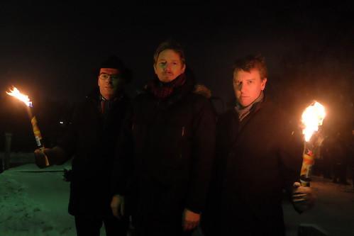 Carl Fredrik Graf, Isidoro Abramowicz, och Olle Vikmång