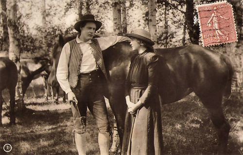 Anna Q. Nilsson and Tor Weijden in Värmlänningarna (1921)