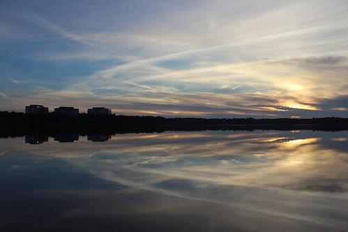 sunset raleighnorthcarolina reflections