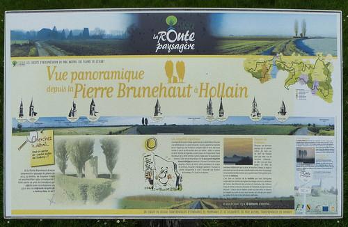 Hollain.- Table d'orientation de la pierre Brunehaut