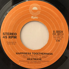 HEATWAVE:THE GROOVE LINE(LABEL SIDE-B)