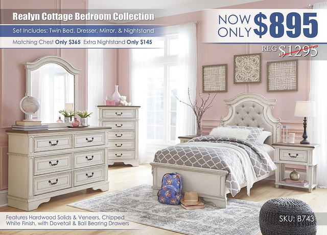 Realyn Cottage Bedroom Youth Set_B743-21-26-45-53-52-83-91