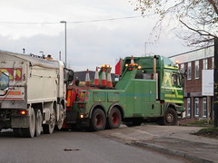 Unimog1300L posted a photo:bringing a loaded ex Tarmac Volvo FM back into Cross Green, Leeds
