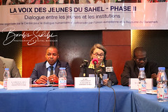 Lancement de la phase 2 du projet «La Voix des Jeunes du Sahel», un projet mis en œuvre par le Centre pour le Dialogue Humanitaire, et financé par l'Union Européenne à travers le fonds fiduciaire pour l'Afrique et par le Royaume du Danemark...Crédit photo