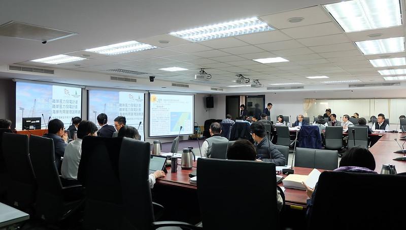 內政部海岸管理審議會(海審會)審查彰化外海四家離岸開發商的七個風場