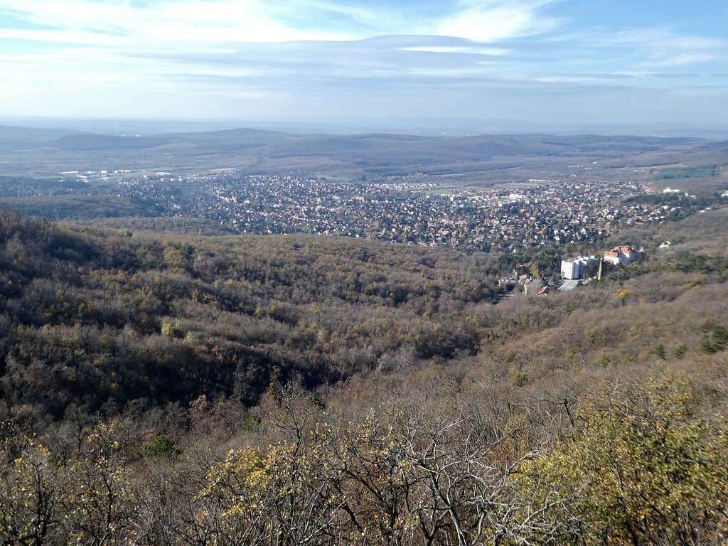 View from Elizabeth Lookout Tower, Zugliget Chairlift, Budapest