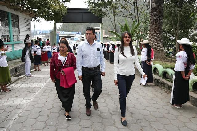 Inauguración de Espacio TiNi y Entrega de Mantenimiento Mi Aula al 100% en la UE Sarance en Otavalo