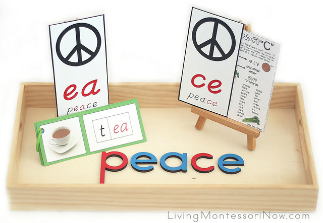 Peace Word Analysis and Word Building with Phonogram Cards and Movable Alphabet