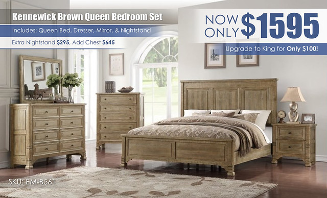 Kennewick Brown Emerald Home Bedroom Set_EM_B561
