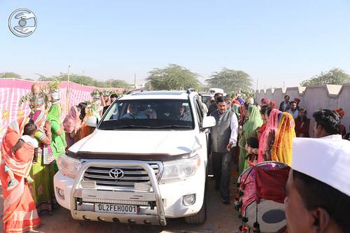 Arrival of Satguru Mata Ji at Sindhary Branch on the way to Jodhpur