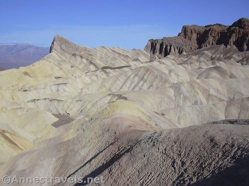 Hiking along the Zabriski Point Trail, Death Valley National Park, California