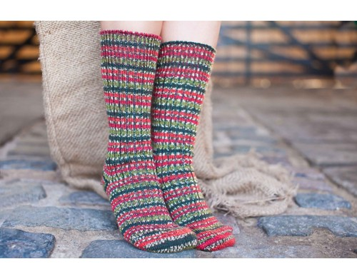 Holly Berry Christmas sock yarn...