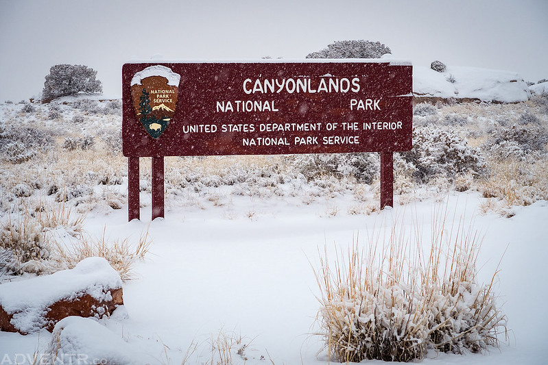Canyonlands In The Snow