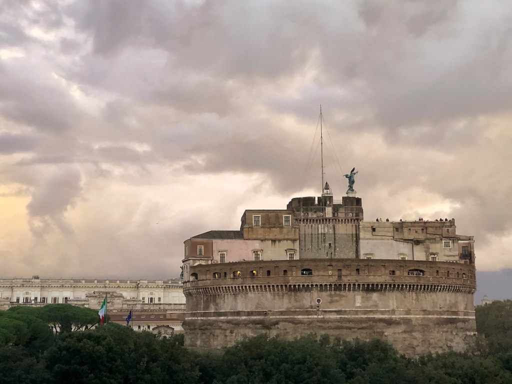 Clouds (upon the Castle) #castle #Rome #Roma #Clouds