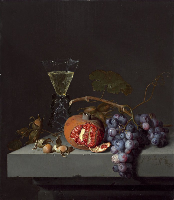 Jacob van Walscapelle - Still Life with Fruit (1675)