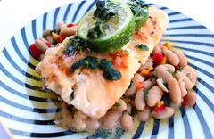 SAUTÉED COD FILLET WITH CANNELLINI BEAN SALAD