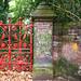 Strawberry Fields Gate with Graffiti