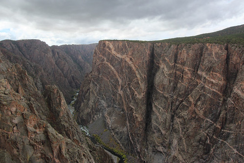 black canyon gunnison national park colorado co landscape october 2018 south rim painted wall view fall autumn
