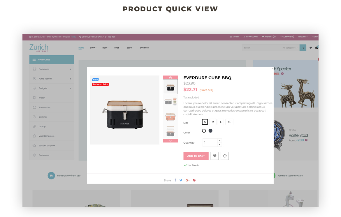Product quickview - Leo Zurich - Gifts and Souvenirs shop