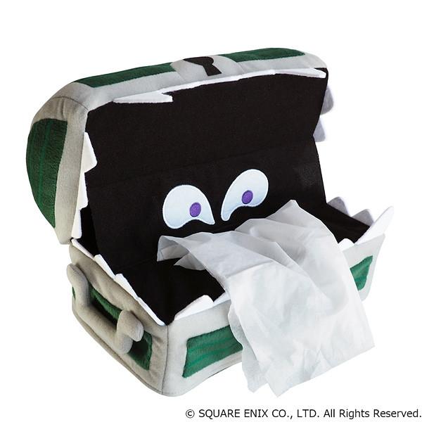 我只是想抽張衛生紙擦屁〇,不要折磨我啦~~ SQUARE ENIX《勇者鬥惡龍》寶箱怪紙巾套 スマイルスライム ぬいぐるみティッシュカバー ミミック