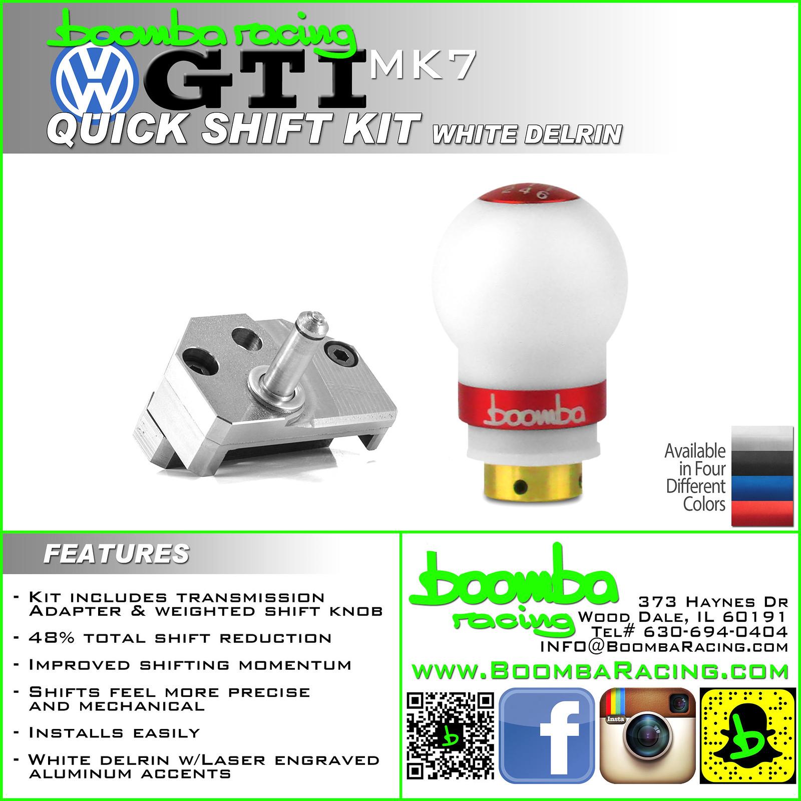 NEW Quick Shift Kit - Boomba Racing - GOLFMK7 - VW GTI MKVII