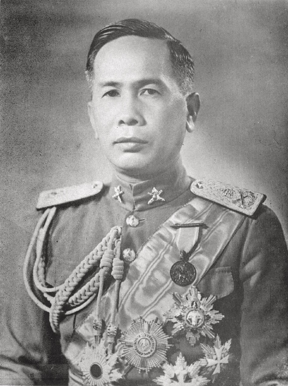 Field Marshal Plaek Pibulsonggram, Chief of the Thai Army and Prime Minister from 1938 until 1944