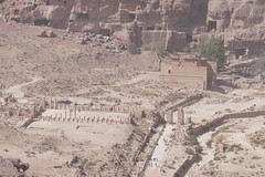 Top View of Great Temple & Colonnaded Street in Petra (1)