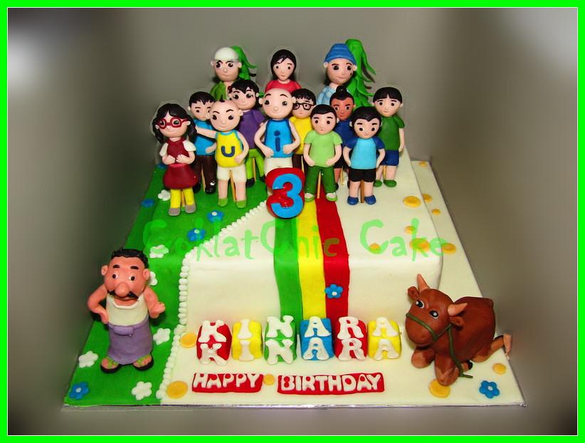 Cake Upin Ipin KINARA 22 cm