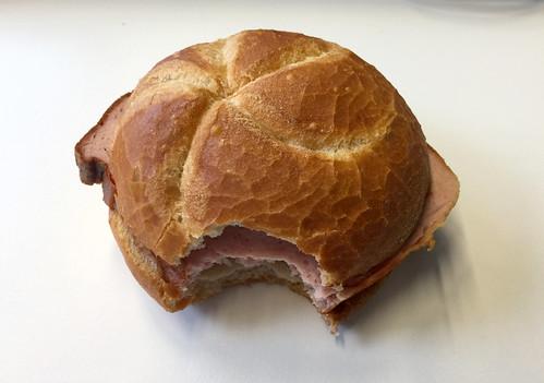Leberkässemmel / Bavarian meat loaf bun
