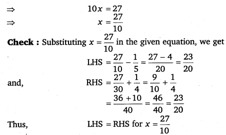 NCERT Solutions for Class 8 Maths Chapter 2 Linear Equations In One Variable 54