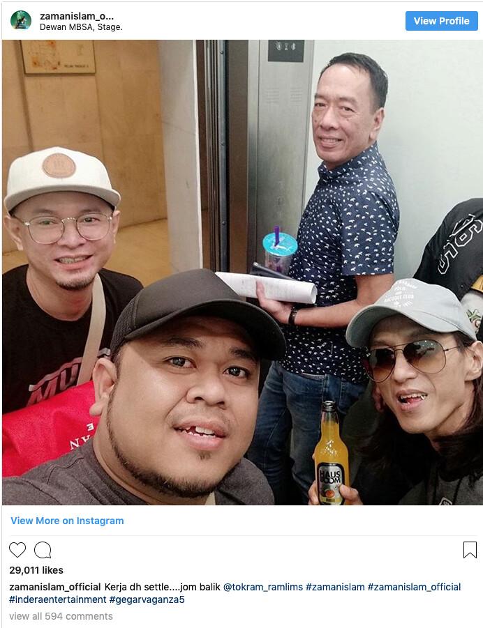 Peminat Zamani Kena Carut Dengan Ramli MS Di Instagram
