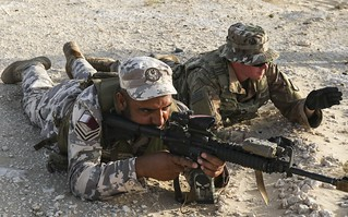 2-198 Infantrymen, Qatari Soldiers Conduct Bunker Clearing Training
